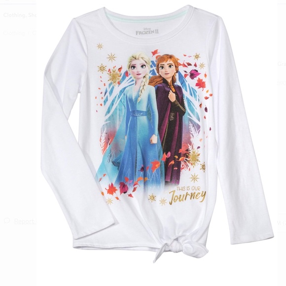 LICENSED GIRL/'S FROZEN GRAPHIC TOP T-SHIRT *NWT SIZE: L DISNEY LS XL